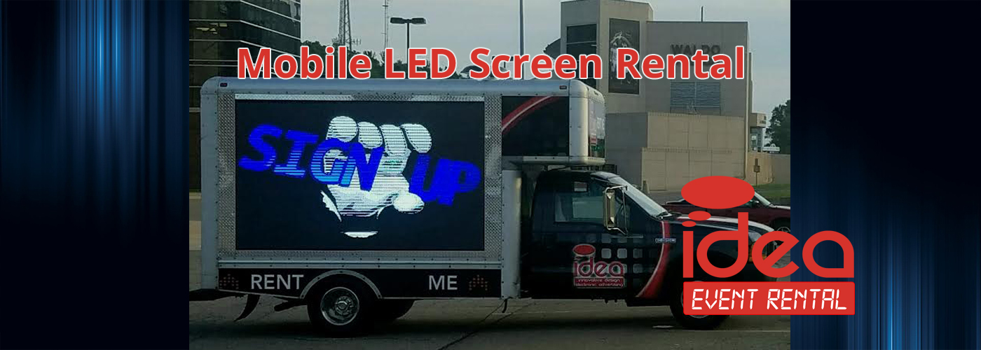 Mobile LED Screen Rental Slider